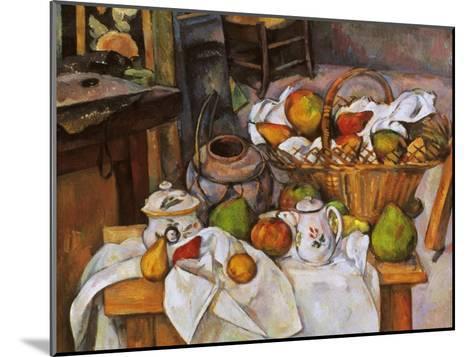 Cezanne: Table, 1888-90-Paul C?zanne-Mounted Giclee Print