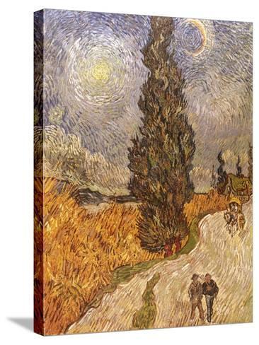 Van Gogh: Cypresses, 1889-Vincent van Gogh-Stretched Canvas Print