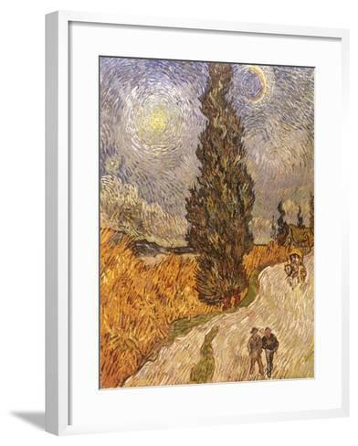 Van Gogh: Cypresses, 1889-Vincent van Gogh-Framed Art Print
