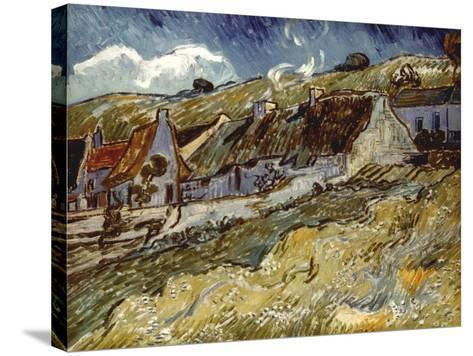 Van Gogh: Cottages, 1890-Vincent van Gogh-Stretched Canvas Print