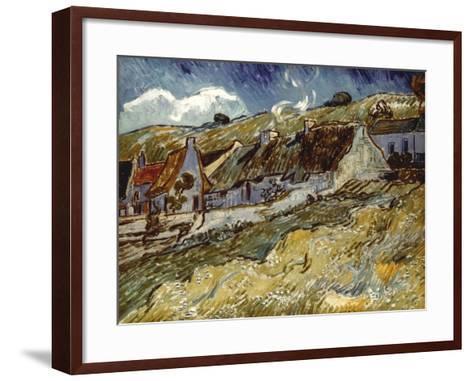 Van Gogh: Cottages, 1890-Vincent van Gogh-Framed Art Print