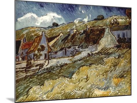 Van Gogh: Cottages, 1890-Vincent van Gogh-Mounted Giclee Print