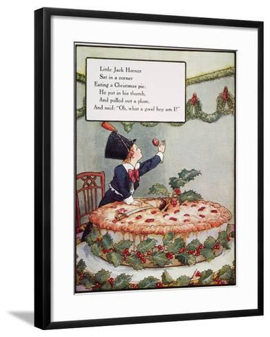 Mother Goose: Jack Horner-Frederick Richardson-Framed Art Print