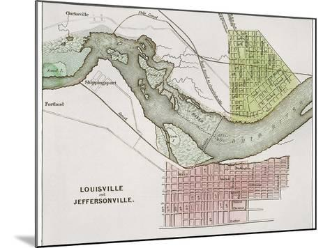 Jeffersonville, Indiana: Map--Mounted Giclee Print