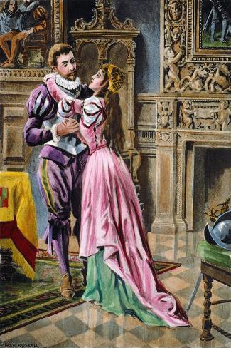 De Soto & Isabella, 1539--Stretched Canvas Print