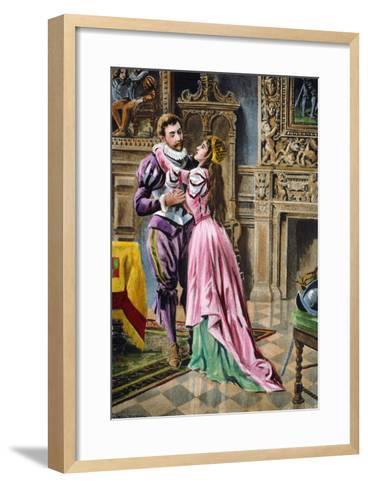 De Soto & Isabella, 1539--Framed Art Print