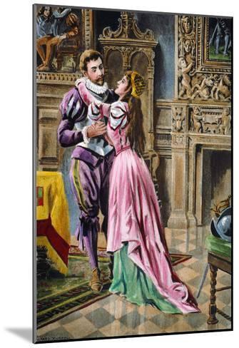De Soto & Isabella, 1539--Mounted Giclee Print