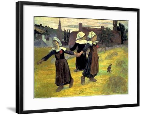 Gauguin: Breton Girls, 1888-Paul Gauguin-Framed Art Print