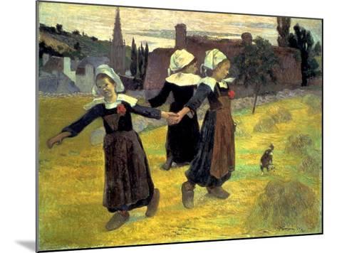 Gauguin: Breton Girls, 1888-Paul Gauguin-Mounted Giclee Print