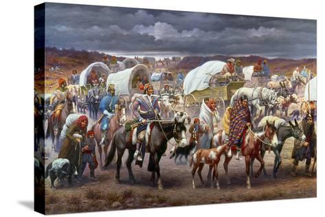 The Trail Of Tears, 1838-Robert Lindneux-Stretched Canvas Print