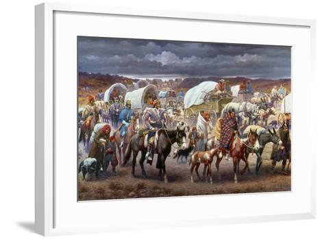 The Trail Of Tears, 1838-Robert Lindneux-Framed Art Print
