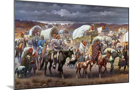 The Trail Of Tears, 1838-Robert Lindneux-Mounted Giclee Print
