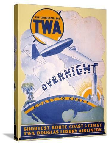 Trans-World Airlines 1934--Stretched Canvas Print