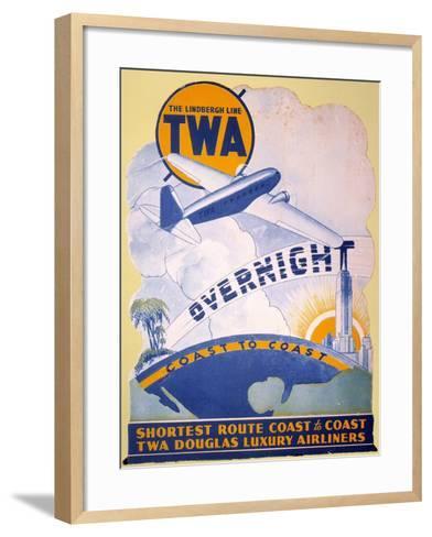 Trans-World Airlines 1934--Framed Art Print
