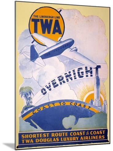 Trans-World Airlines 1934--Mounted Giclee Print