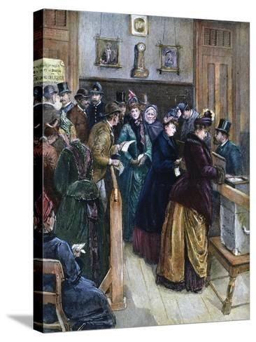 Women Voting, 1888--Stretched Canvas Print