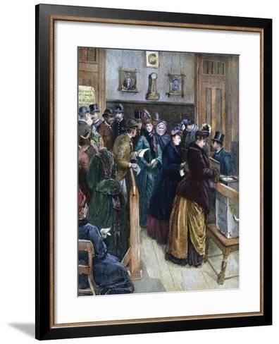 Women Voting, 1888--Framed Art Print