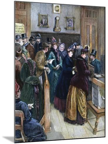 Women Voting, 1888--Mounted Giclee Print