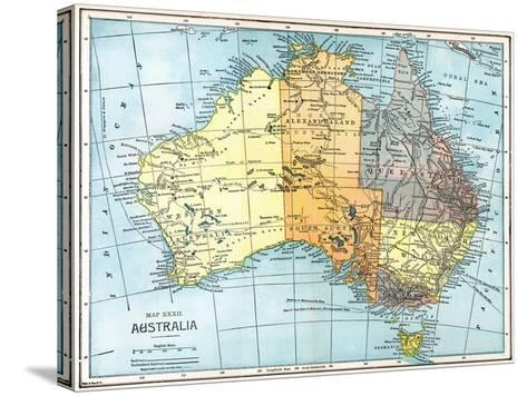 Map: Australia, C1890--Stretched Canvas Print