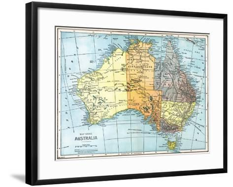 Map: Australia, C1890--Framed Art Print