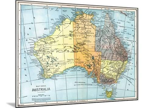 Map: Australia, C1890--Mounted Giclee Print
