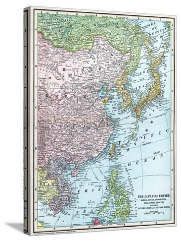 Map: East Asia, 1907--Stretched Canvas Print