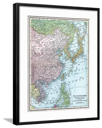 Map: East Asia, 1907--Framed Art Print
