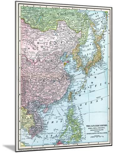 Map: East Asia, 1907--Mounted Giclee Print
