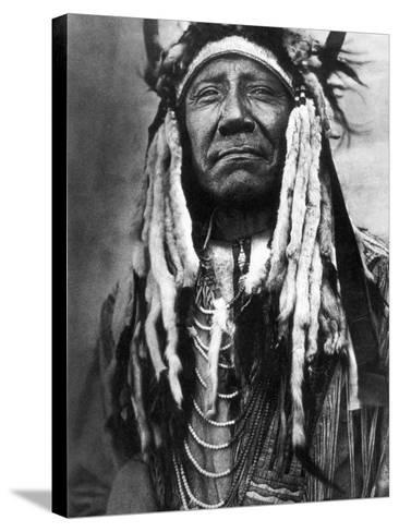 Cheyenne Chief, C1910-Edward S^ Curtis-Stretched Canvas Print