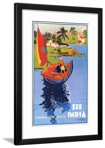 Indian Travel Poster, 1938--Framed Art Print