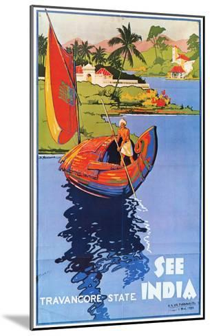 Indian Travel Poster, 1938--Mounted Giclee Print