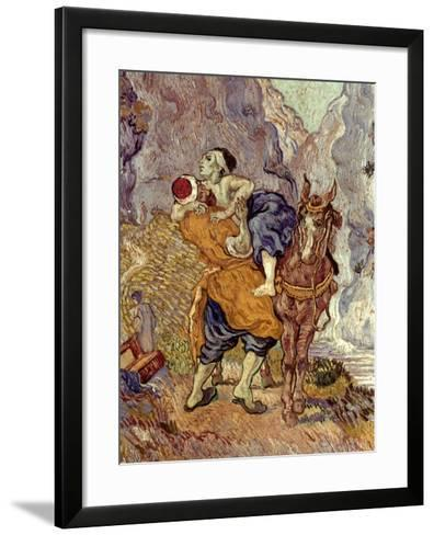 Van Gogh: Samaritan, 1890-Vincent van Gogh-Framed Art Print