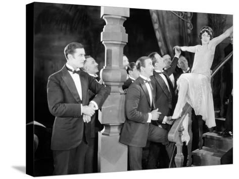 Silent Film Still: Parties--Stretched Canvas Print