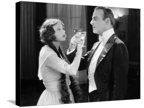 Silent Film Still: Drinking--Stretched Canvas Print