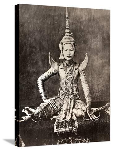 Siam: Dancer, C1870--Stretched Canvas Print