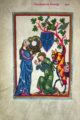 Minnesinger, 14Th Century--Stretched Canvas Print