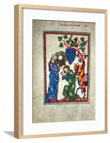 Minnesinger, 14Th Century--Framed Art Print