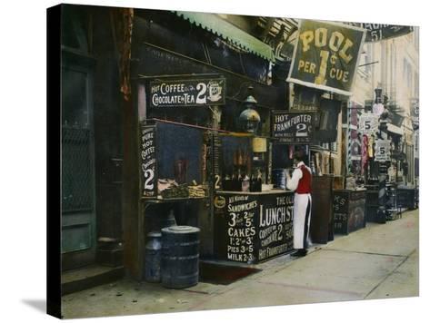 New York City Restaurant--Stretched Canvas Print