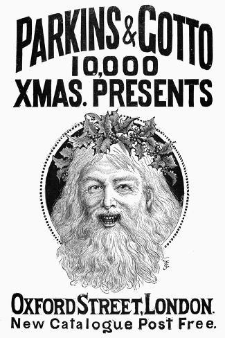 Christmas Present Ad, 1890--Stretched Canvas Print