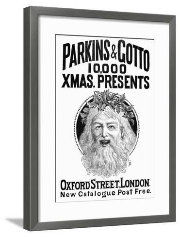 Christmas Present Ad, 1890--Framed Art Print