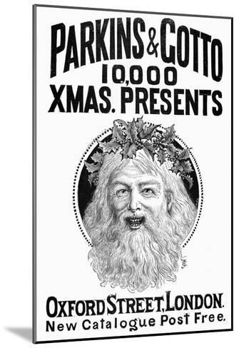 Christmas Present Ad, 1890--Mounted Giclee Print