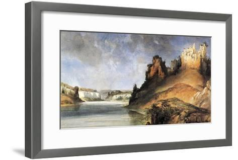 View Of The Stone Walls-Karl Bodmer-Framed Art Print