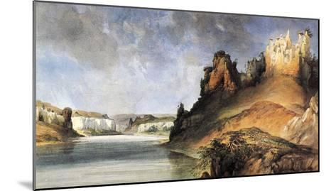 View Of The Stone Walls-Karl Bodmer-Mounted Giclee Print