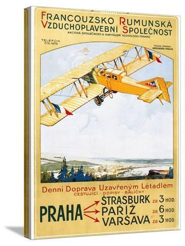 Aviation Poster, 1922--Stretched Canvas Print