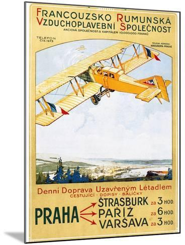 Aviation Poster, 1922--Mounted Giclee Print
