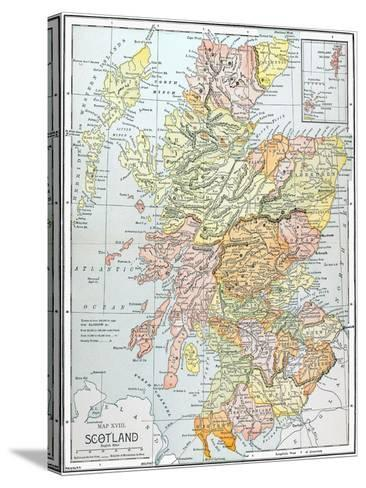 Map: Scotland--Stretched Canvas Print