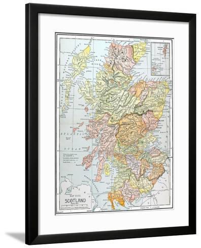 Map: Scotland--Framed Art Print