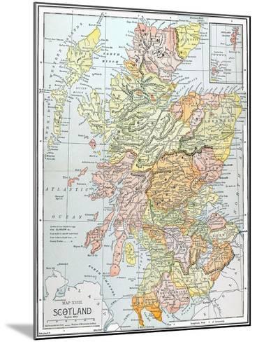 Map: Scotland--Mounted Giclee Print