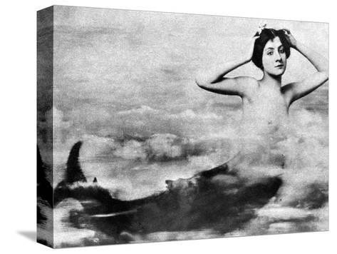 Nude As Mermaid, 1890S--Stretched Canvas Print