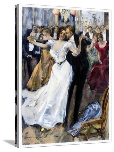 Society Ball, C1900-Hal Hurst-Stretched Canvas Print